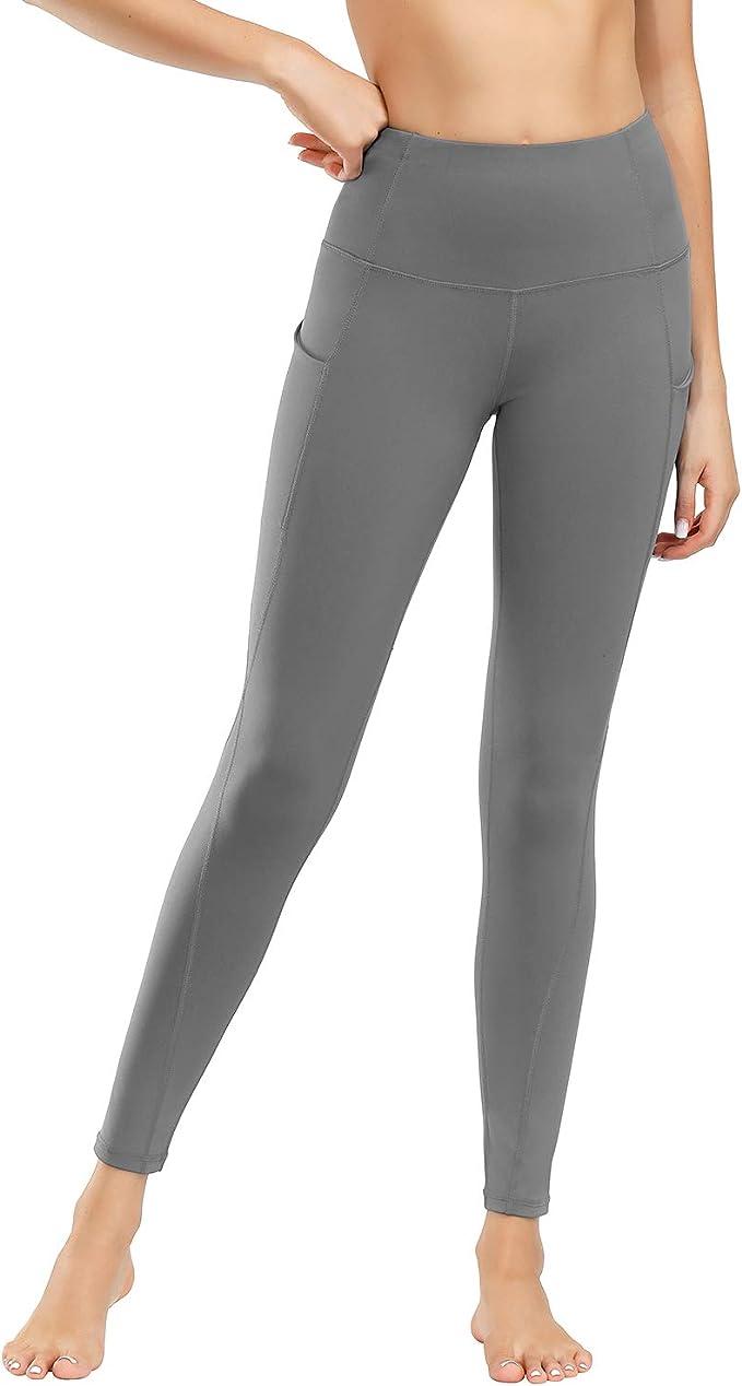 Damen Yoga Pants Hosen Damen Yogahose Sporthose Damen Lange Laufleggins High Waist Sport Leggings Stretchhose Mit Taschen