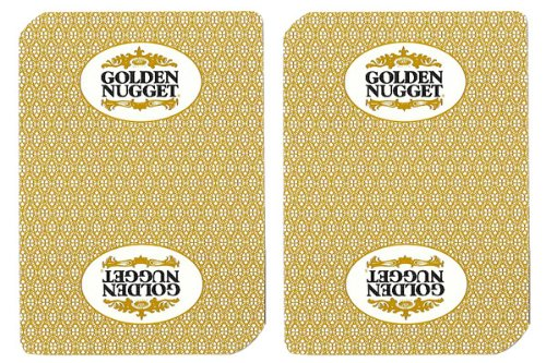 - 1 Deck Golden Nugget Casino Playing Cards Used In Real Casino - Free Bounty Button Kit