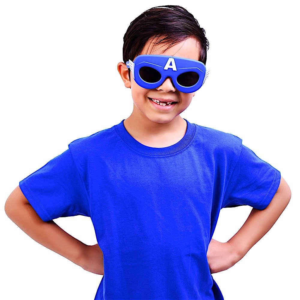 Sun-Staches Costume Sunglasses Marvel Lil Characters Captain America Party Favors UV400 SVCI0 SG2444