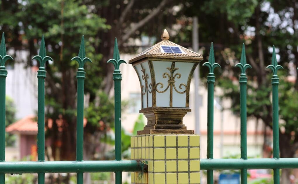 YZL/ Pillar lamp/solar energy solar power outdoor garden light/post lights/wall lights/wall lights/lamp/gate home outdoor pillar lamp , bronze