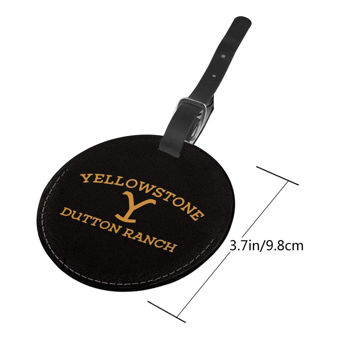 Yellowstone/ Dutton/ Ranch Travel Leather Round Luggage Tags Suitcase Labels Bag