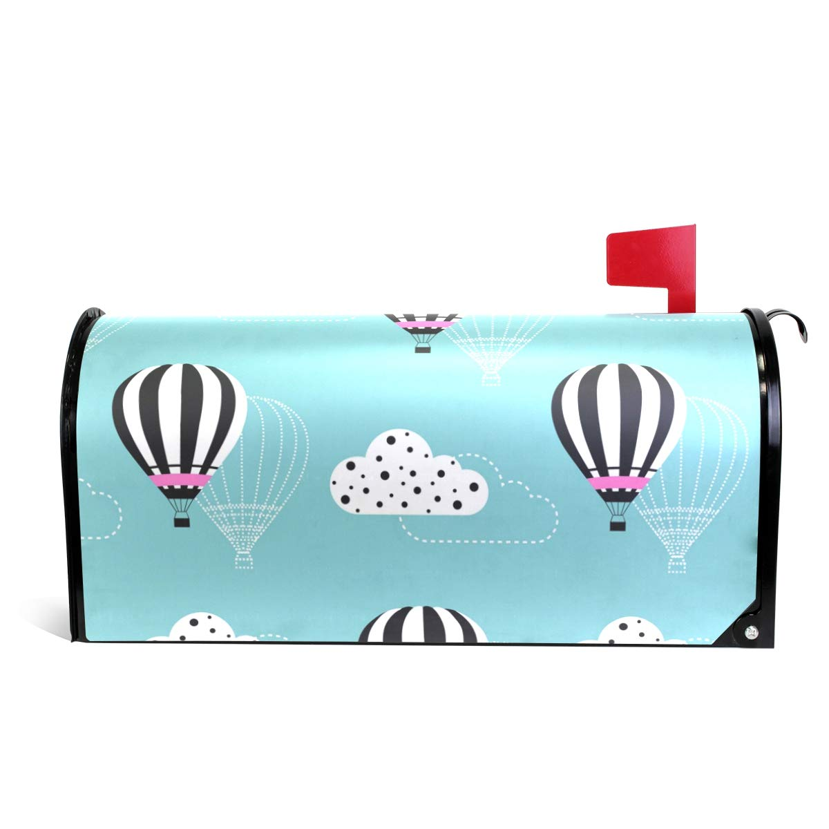 Hot Air Balloon Magnetic Mailbox Cover Oversized-25.5'' x20.8