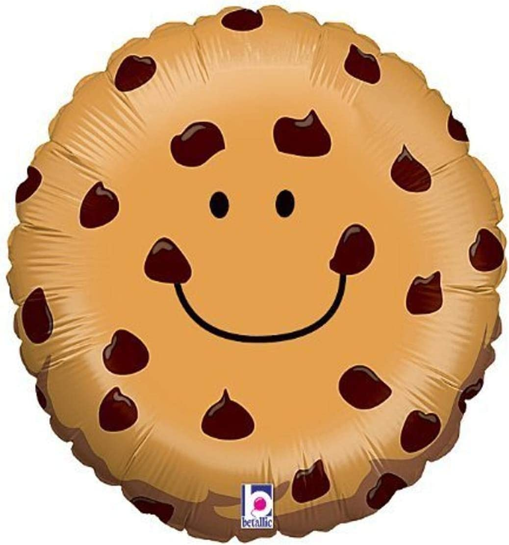 """Adorable Chocolate Chip Cookie 21"""" Mylar Balloon"""