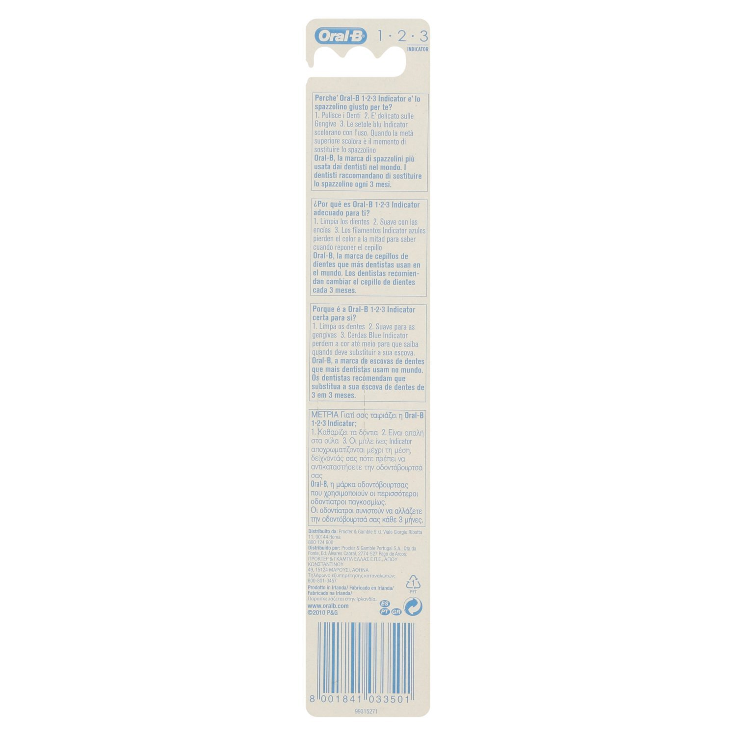 Amazon.com: Oral-B 1,2,3 Indicator 40 Toothbrush with Standard Head, Medium by Braun: Health & Personal Care