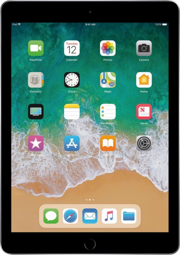 Newest Apple iPad 9.7-Inch 32GB with WIFI, Bluetooth, Touch ID, Apple Pay, Siri, Mobile Hotspot Capability, Video Recording Capability, GPS Enabled, Space Gray