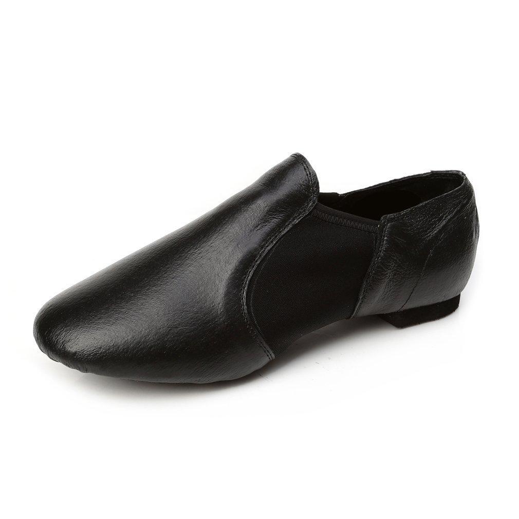 Jieruiya Leather Jazz Dance Shoes Slip-On for Women//Big Kid
