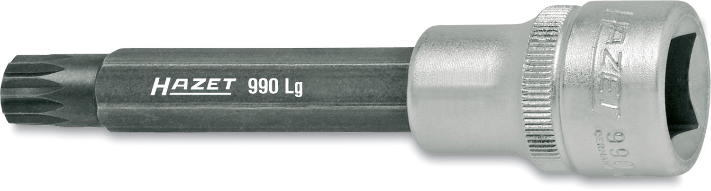 Hazet 990LG-14 Douille m/âle carr/é creux 12,5 mm denture multiple int/érieur XZN Taille M14