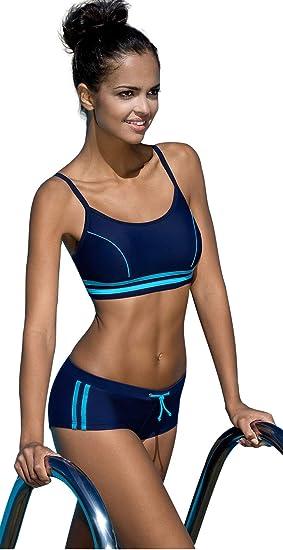 4db46bf7f9 Femme Intersport Rembourre Maillot de Bain Ensemble Bikini: Amazon.fr:  Vêtements et accessoires