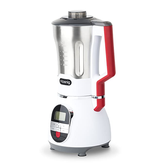H.Koenig MXC36 Preparador de Sopas, 900 W, 1.7 litros, Blanco, Rojo y Negro: Amazon.es: Hogar