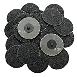 25pcs 3 Inch 36 Grit Discs R Type Sanding Abrasive Discs Roll Lock Coarse - Power Tool Parts Abrasive Tools - 25pcs x Roll Lock Sanding Discs