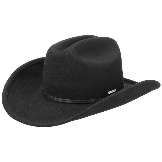 595c7d307 Stetson Fivemile Wool Felt Western Hat Women/Men | with Grosgrain Band  Autumn-Winter