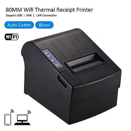 Aibecy Impresora de recibos térmica inalámbrica de 80 mm Wifi Compatible con los comandos ESC/POS Billete Impresión de alta velocidad Auto Cortador ...