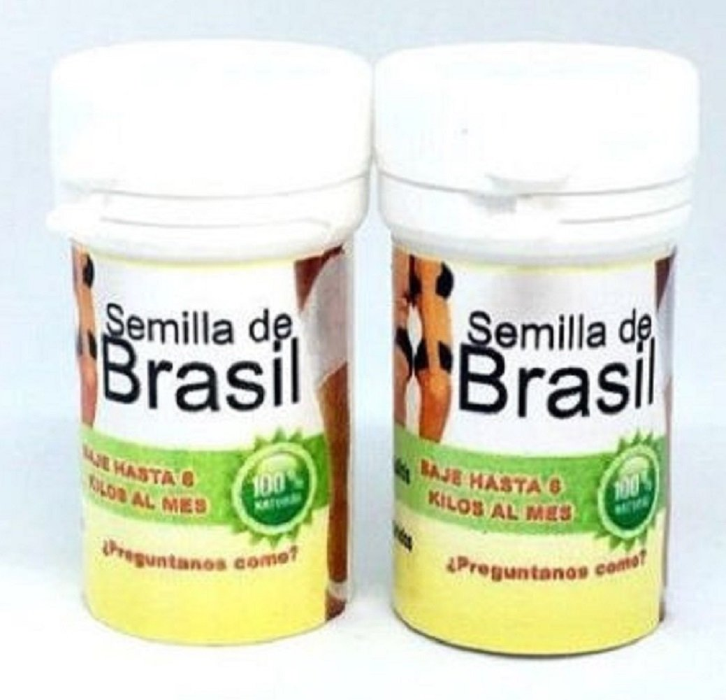 2 Pack Semilla de Brasil Seed Original Brazilian Natural Weight Loss 60 Seeds For 60 day by Standpoint (Image #1)