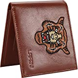 LAFENI Bifold Wallet, Mens Genuine Leather RFID Blocking Wallet with ID Window(Brown)