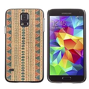 MOBMART Carcasa Funda Case Cover Armor Shell PARA Samsung Galaxy S5 - The Desert Pathway Design
