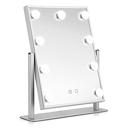 oakome Hollywood Makeup Vanity Mirror with Light ,Tabletops Lighted Mirror with Dimmer Stage Beauty Mirror