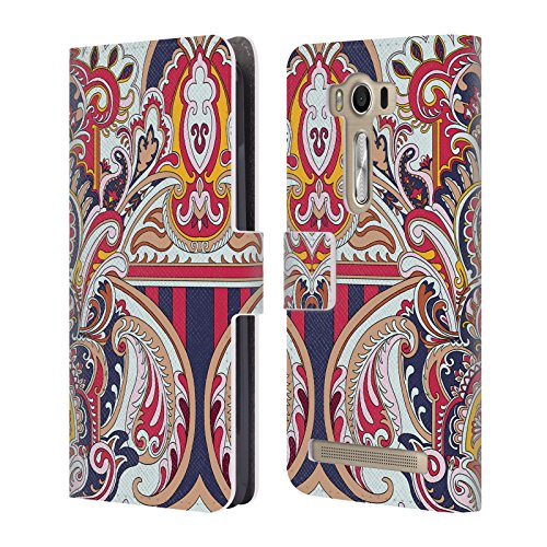 Official Giulio Rossi Baroque Deco Collection Leather Book Wallet Case Cover For Asus Zenfone 2 Laser ZE500