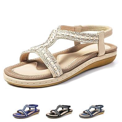 0685ad16d gracosy Womens Flat Sandals