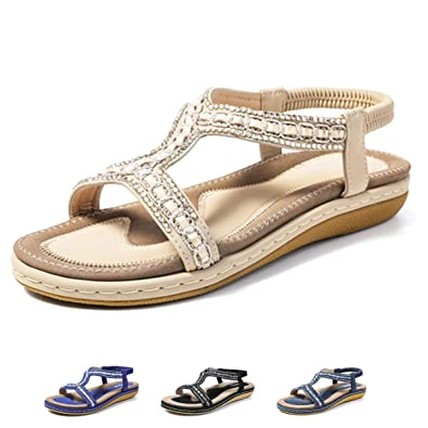 969f64577 gracosy Womens Flat Sandals