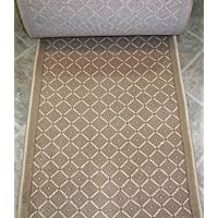 157616 - Rug Depot Royale 782 Beige Casual Trellis Hall and Stair Runner - 26 Wide Hallway Rug Runner - Custom Sizing - Beige Background - Choose Your Length - 26 x 4 feet
