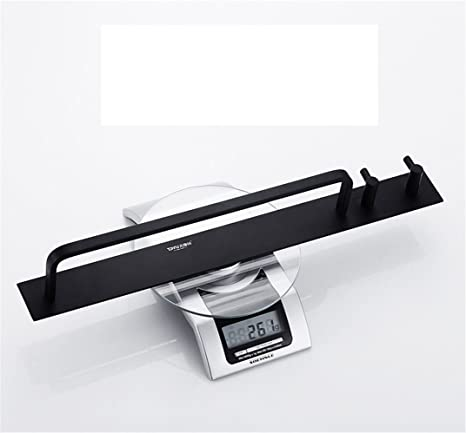 KaO0YaN-Towelrack Cuarto de baño toallero negro unipolar baño barra de toalla colgante barra de colgar: Amazon.es: Bricolaje y herramientas