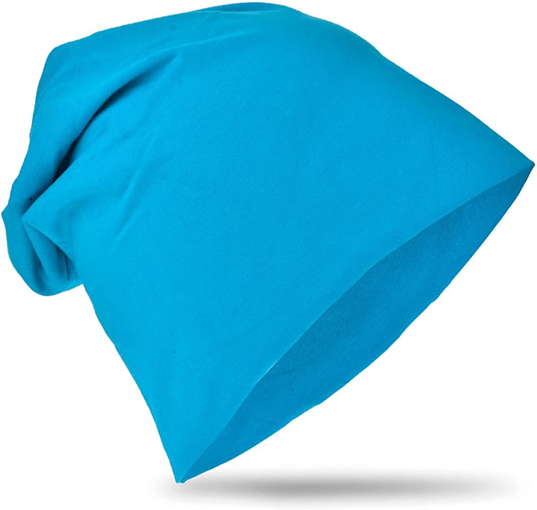 easy4fashion Kinder Baby Jersey Slouch Beanie Long M/ütze Unisex Unifarbe Baumwolle Trend