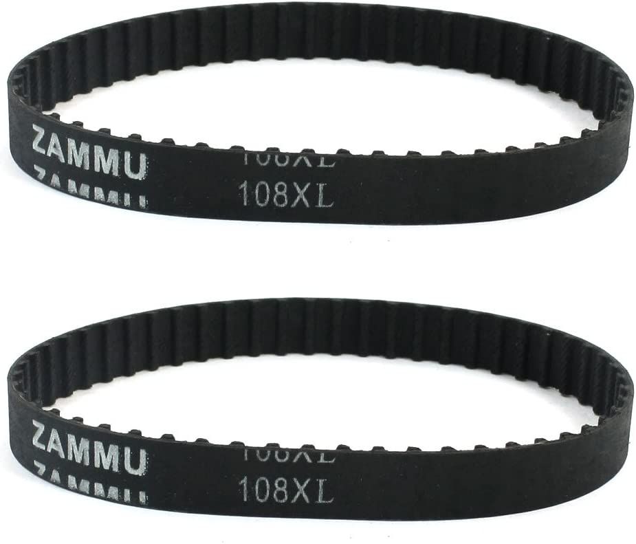 sourcingmap 2 Pezzi 108XL 54 Dente 10mm Larghezza 5.08mm Distanza Gomma Cinghia Dentata 27.4cm