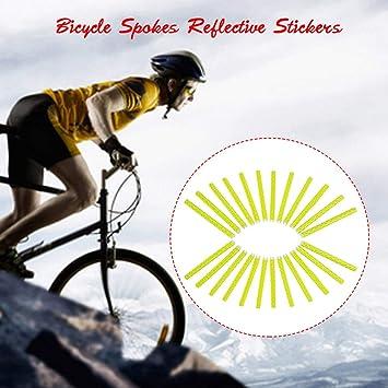 Explopur Ruedas de Bicicleta Radios Sticks Reflectantes 24 Piezas Clip de Seguridad Rueda Tubo Reflectante Bicicleta Decoración Luz 75mm: Amazon.es: Deportes y aire libre
