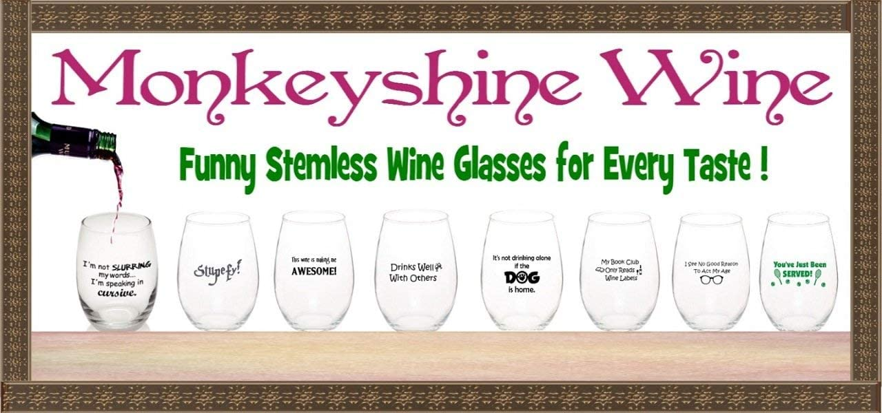 Stupefy!15 oz Stemless Wine or Whiskey Cocktail Glass ~Dishwasher Safe ~ Made in USA