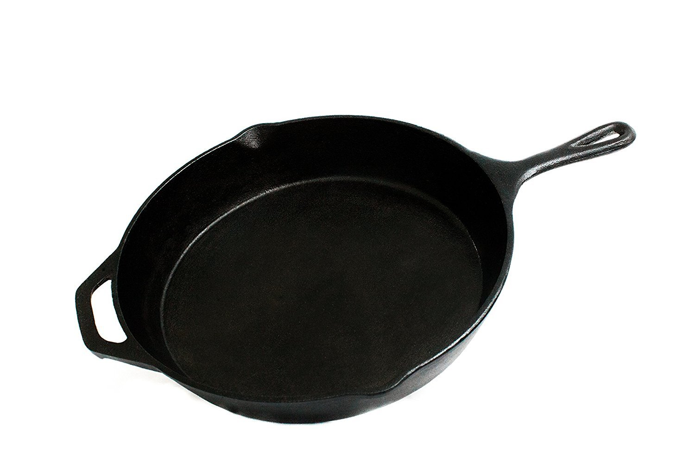 FS Kitchen Pre-Seasoned Cast Iron Cookware Pan, 12.5-Inch