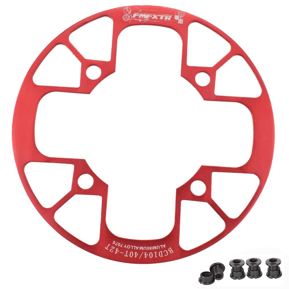 UPANBIKE Montain Bike Chainring Guard 104 BCD Aluminum Alloy Chain Ring Protector Cover for 32~34T 36~38T 40~42T Chainring Sprockets (Red, 32T~34T) by UPANBIKE