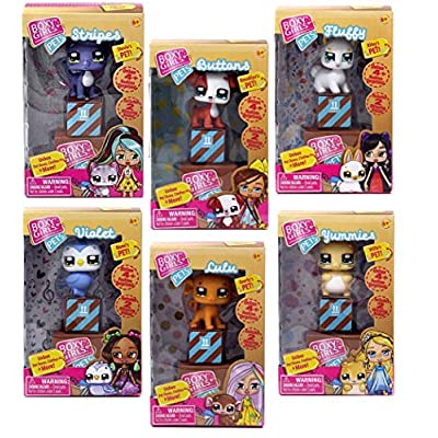 Boxy Girls Bundle Pets 6 Style Asst (Buttons, Violet, Yummies, Stripes, Lulu &Fluffy): Toys & Games