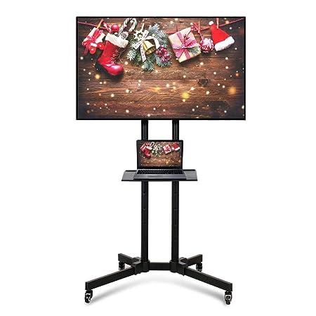 Supporti Porta Tv Lcd.Vesa Da 200x200 Mm A 600x400 Mm Yaheetech Carrello Supporto Porta