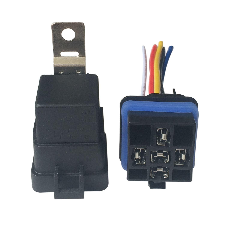 SODIAL Wasserdicht integrierte 12V 40A 4 Pin Auto-Relais und Relaishalter