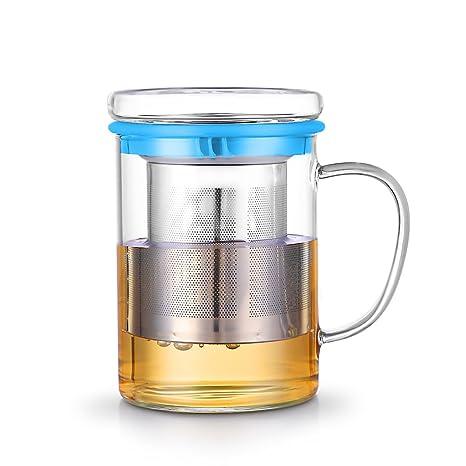 censun taza de viaje de cristal de borosilicato, vidrio taza ...