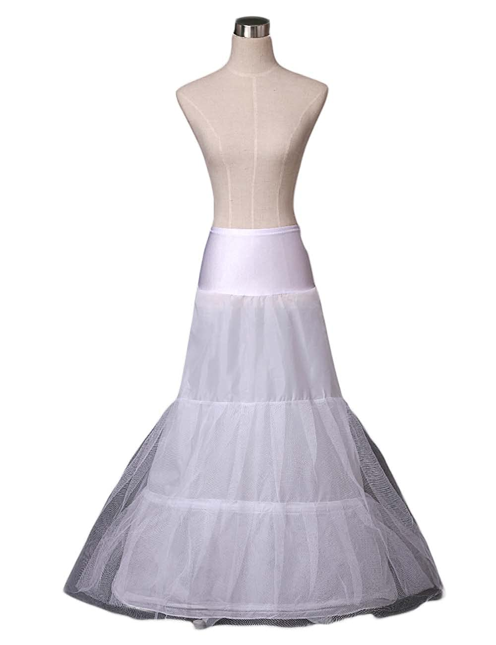 Women's 2 Hoops A-line Wedding Petticoat/Underskirt/Crinoline/Slips Bridal Dress 9028