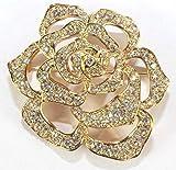 Elizabeth Taylor Pave Crystal Rose Pin