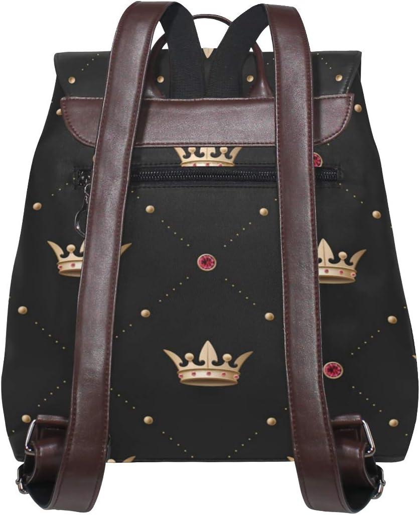 Gold Crown Womens Round Messenger Shoulder Bags Small Wallet School Business Work Bag