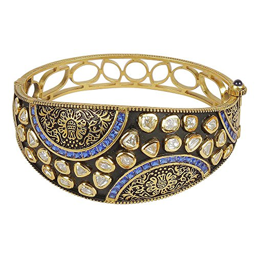 MUCHMORE Amazing Style Kundan Gold Tone Diamond Swarovski Elements Indian Bangles Traditional Jewelry (2.4) by Muchmore