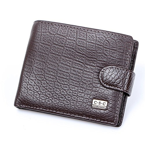 Money Coming Shop Men Wallets Brown Coffee Real Genuine Cowhide Leather Bifold Wallet Men Purses Male Credit Cards Coin Pocket Carteira Masculina