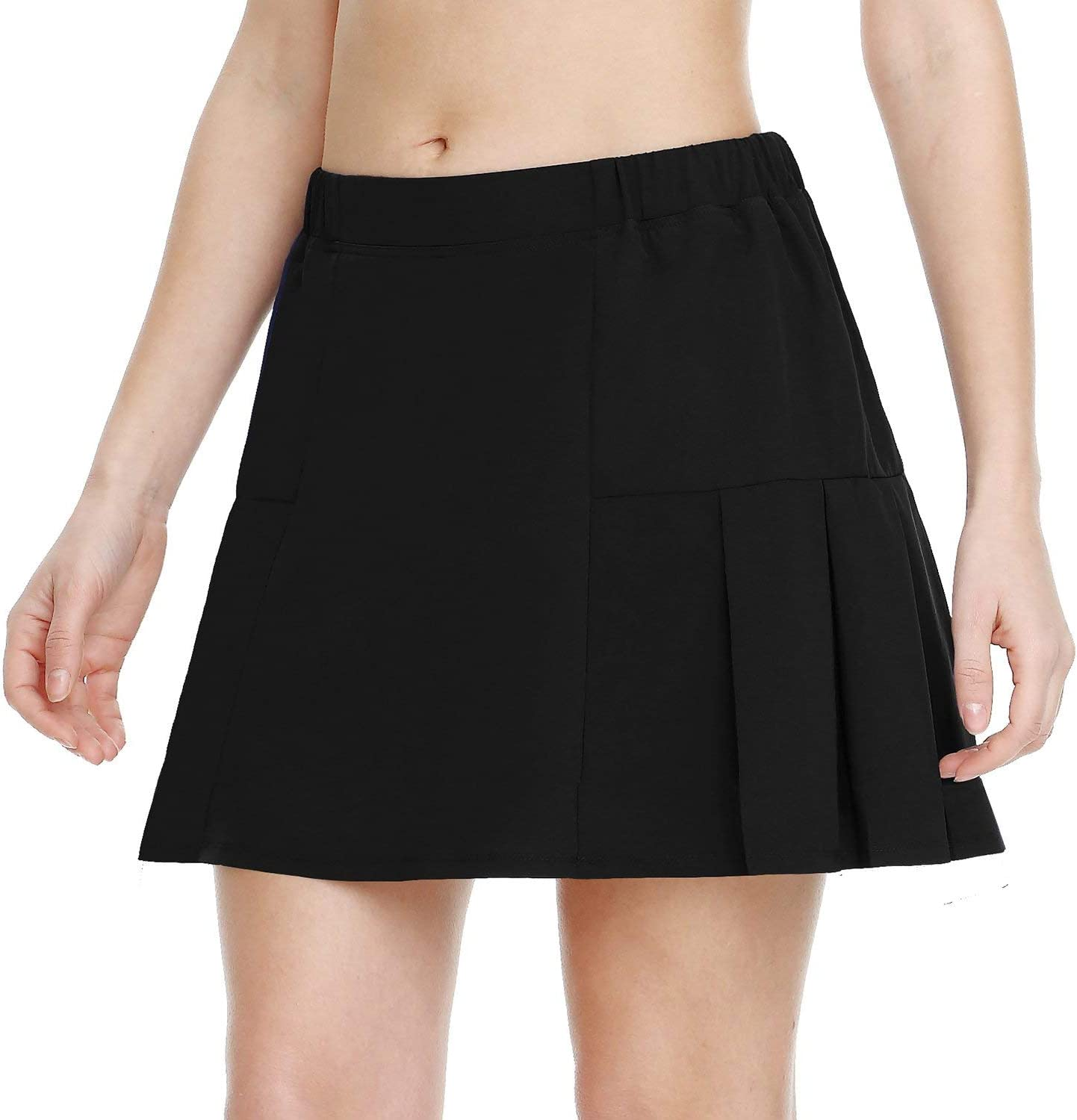 BALEAF Women's Athletic Tennis Skirt Pleated Golf Skort with Pockets for Running Lightweight : Clothing
