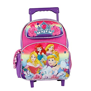 8d955ea7068d Image Unavailable. Image not available for. Color  Disney Princess Vibrant  Rainbow Small Size Rolling Backpack ...