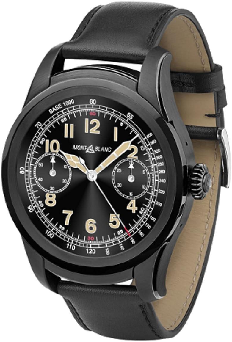 Amazon.com: Montblanc Summit Smartwatch Black Steel 117538 ...