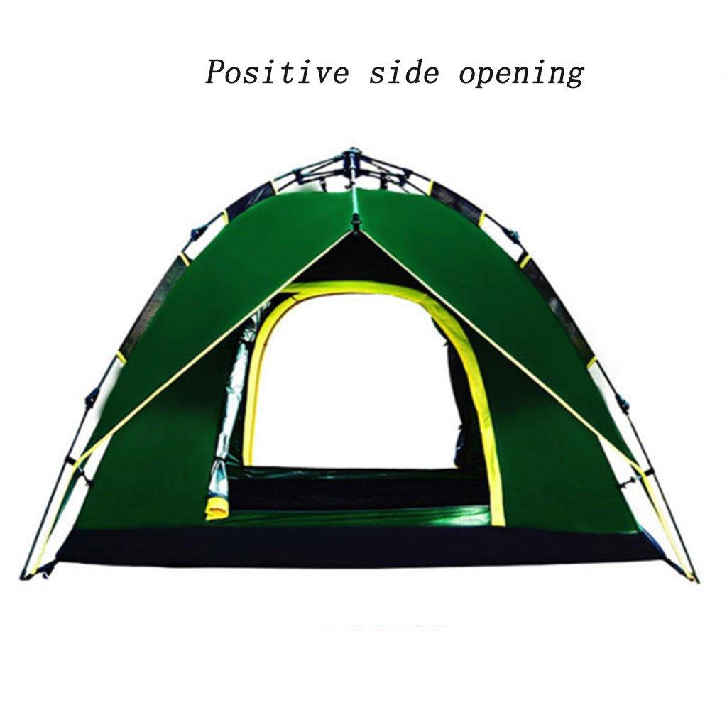 XINGQIANRU Automatisches Campingzelt Doppel-Campingzelt 3-4 Personen Outdoor-Ausrüstung (215  215  135Cm)