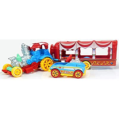 Hot Wheels 2020 Car-Nival Steamer Vehicle w/ Detachable Trailer & Pedal Car: Toys & Games