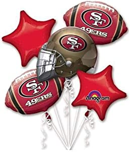 Anagram San Francisco 49Ers Balloon Bouquet, Multicolored