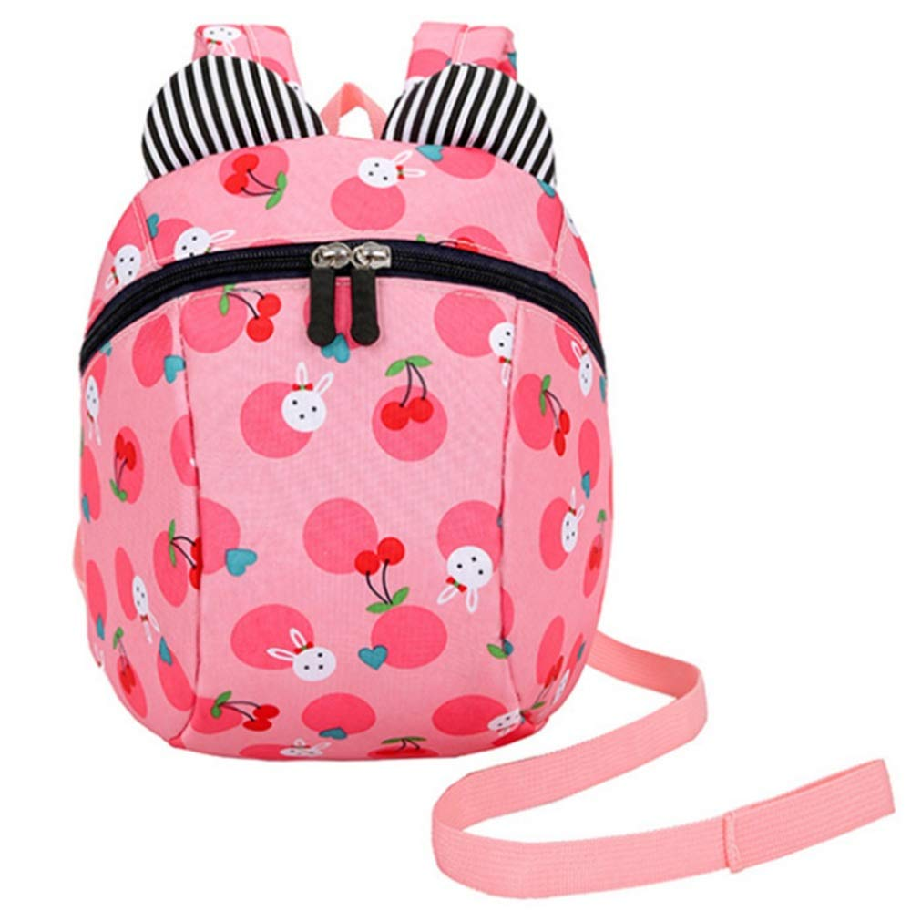 Zhao Xiemao Safety Harness Backpack Children's Backpack with Belt 3-6 Y Cute Pattern Infant Baby Safety Harness Backpack with Safety Harness Straps (Color : Pink)