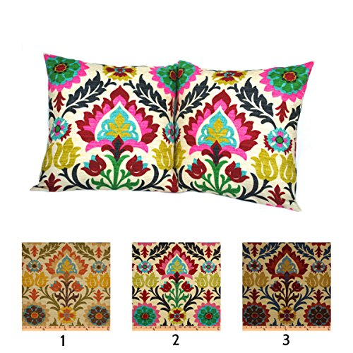 (One Waverly Santa Maria Desert Flower pillow cover, cushion, decorative throw pillow, decorative pillow, accent pillow, 20x20 pillow, Floral Pillow, Waverly Pillow, Pink Pillow )