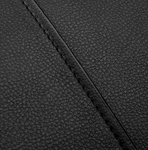 Hombres De Calidad Superior De Lujo Concise Trend Gentleman Sola Bolsa De Hombro Bolsa Cuadrada Negro Black