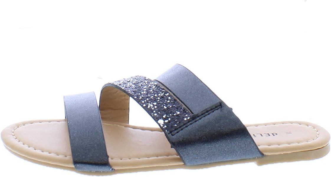 3a6e1fe242e Amazon.com   26 Accessories Delia's Girls' Metallic Slide Sandal ...